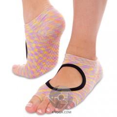 Носки для йоги Planeta меланж, с открытыми пальцами