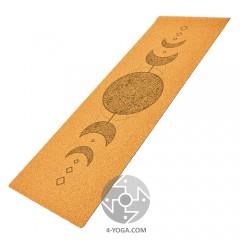 """Йога мат пробковый """"Лунный цикл""""  61см*183см*4мм, Китай"""