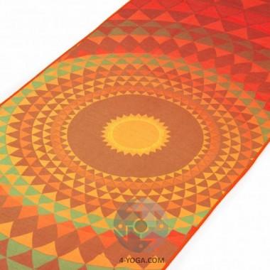 "Йога полотенце ""Оранжевая орбита"" 61см*183см* 1мм (500г), Бодхи, Германия Bodhi"