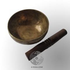 Поющая чаша кованая, диаметр 17,5 см, высота 8,5 см, ручная работа, Непал