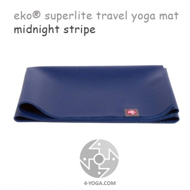 Легкий йога мат eKO SuperLite, Midnight Stripe, 61см*173см*1.5мм, Мандука