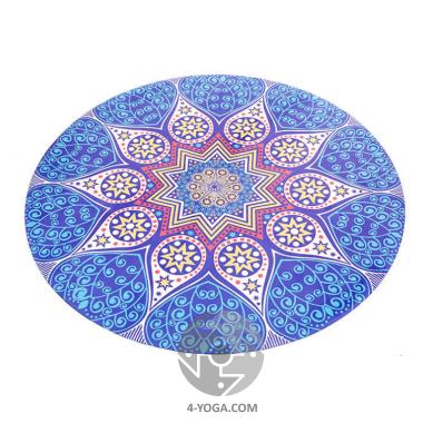 Круглый коврик для йоги Мандала   150см*3мм, Китай фото