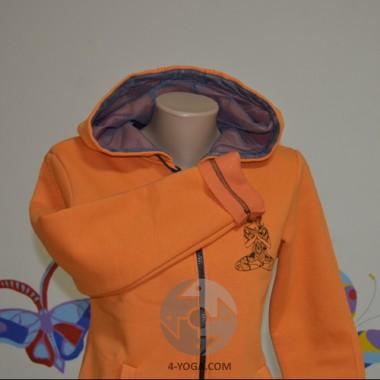 """Кофта с капюшоном """"НАМАСТЕ"""", оранжевая"""