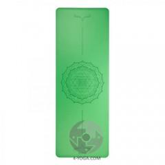 Каучуковый йога мат Феникс (Phoenix) 66см*185см*4мм, зеленый Yantra-Mandala, Бодхи