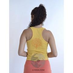 Борцовка Нади с рисунком на спине, желтый