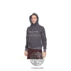 """Толстовка """"4- yoga"""" с капюшоном, черный"""