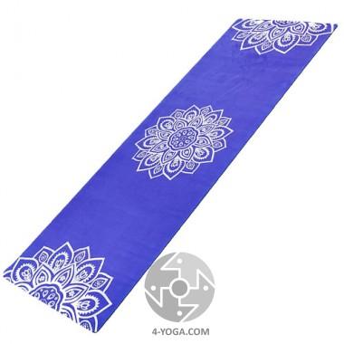 Йога мат каучуковый Индра (фиолетовый)  61см*183см*3мм, Китай фото
