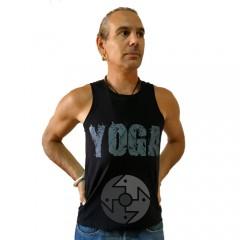 "Майка мужская ""Yoga Кобра"", черная"