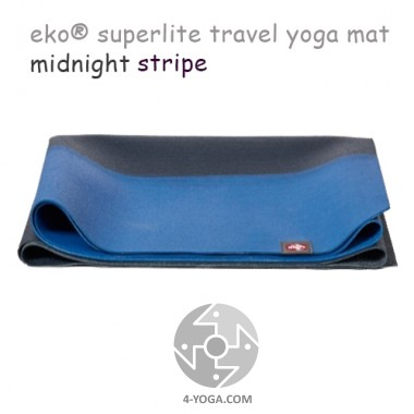 Легкий йога мат eKO SuperLite, Midnight Stripe, Мандука фото