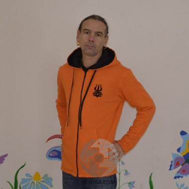 """Кофта с капюшоном """"MEN"""", оранжевая"""