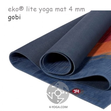 Легкий йога мат eKO lite, Gobi, 61см*173см*4мм, Мандука