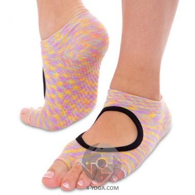 Носки для йоги Planeta меланж, с открытыми пальцами фото