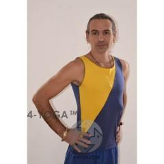 """Майка """"Патриот"""", желто-синяя"""