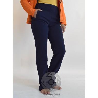 Женские спортивные штаны ЗИМА, синие фото