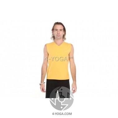 "Безрукавка "" Йог"" с  рисунком на спине, желтый"
