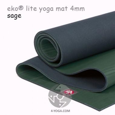 Легкий йога мат eKO lite, Sage, 61см*180см*4мм, Мандука фото