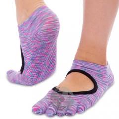 Носки для йоги Planeta меланж, с закрытыми пальцами