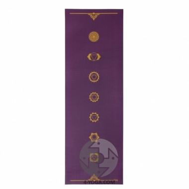 Йога мат ЛИЛА Чакры (Leela Collection Chakras) 60см*183см*4мм, Бодхи фото