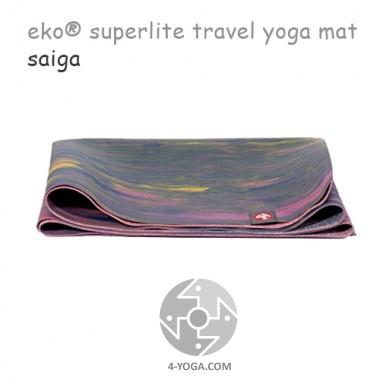 Легкий йога мат eKO SuperLite, Saiga, 61см*173см*1.5мм, Мандука
