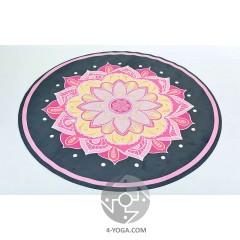 Круглый каоврик для йоги Мандала   150см*3мм, Китай
