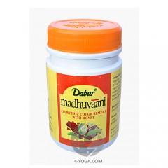 Мадхувани (Madhuvaani) - аюрведический препарат от кашля, Дабур, Индия, 150г