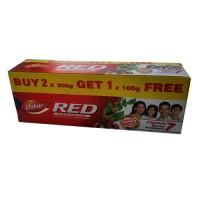 Зубная паста Ред (Red) , Дабур, 500 гр. (2х200 гр. 1х100 гр.)
