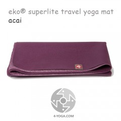 Легкий йога мат eKO SuperLite, Acai, 61см*173см*1.5мм, Мандука