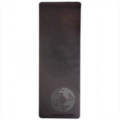 Каучуковый йога мат Феникс (Phoenix) 66см*185см* 4мм, черный с мандалой, Бодхи