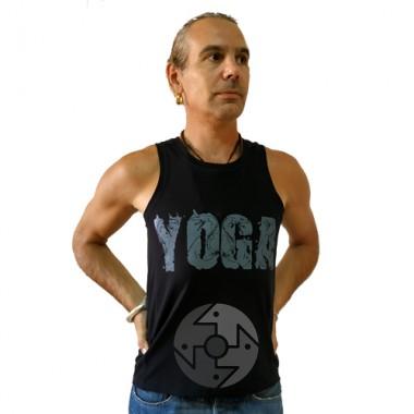 """Майка мужская """"Yoga Кобра"""", черная фото"""