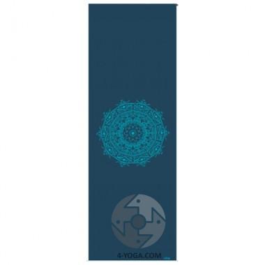 """Коврик для йоги """"ЛИЛА Мандала"""", петроль (Leela Collection) 60см*183см*4мм, Бодхи, Германия фото"""