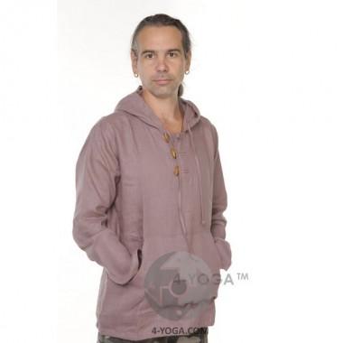 """Рубашка из льна с капюшоном """"Релакс"""""""