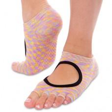 Шкарпетки для йоги Planeta меланж, з відкритими пальцями