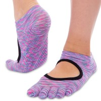 """Носки для йоги """"Planeta"""" меланж, с закрытыми пальцами"""