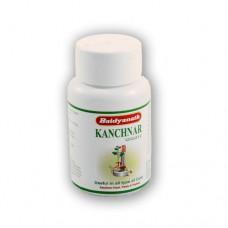 Канчнар Гуггул(Kanchnar guggul) ,  Baidyanath,  Индия,80 таб