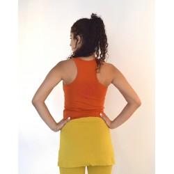 Борцовка Нади с рисунком на спине, кирпичный