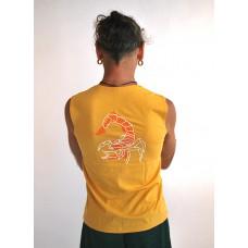 """Безрукавка """"Йог"""" з малюнком на спині, жовтого кольору"""