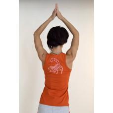 Йога майка Нади с рисунком на спине, кирпичный