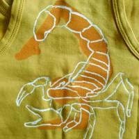"""Борцовка """"Нади"""" с рисунком на спине, желтый"""