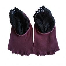 Носки для йоги с кружевом (без пальцев), Китай