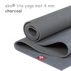 Легкий йога мат eKO lite, Charcoal, 61см*173см*4мм, Мандука