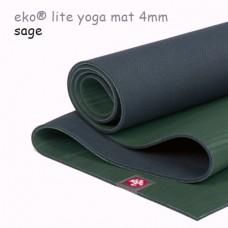 Легкий йога мат eKO lite, Sage, 61см*180см*4мм, Мандука
