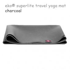 Легкий йога мат eKO SuperLite, Charcoal, 61см*173см*1.5мм, Мандука