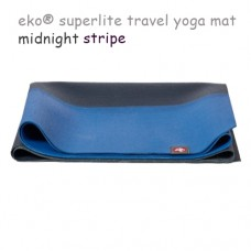 Легкий йога мат eKO SuperLite, Midnight Stripe, 61см*173см*1.5мм, Мандука