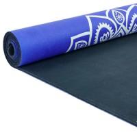 Йога мат каучуковый Индра (фиолетовый)  61см*183см*3мм, Китай
