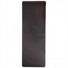 Каучуковий йога мат Фенікс (Phoenix) 66см*185см* 4мм, чорний з мандалою, Бодхі