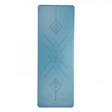 Каучуковый йога мат Феникс (Phoenix) 66см*185см*4мм, бирюзовый Tribaling, Бодхи