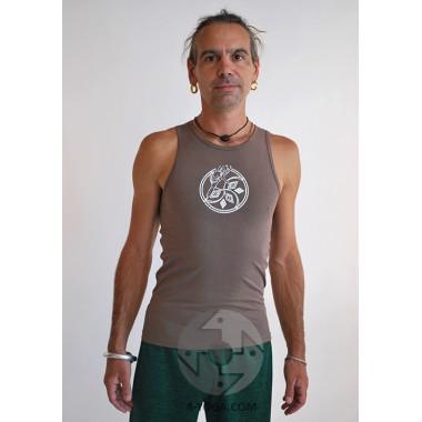 Майка для йоги Autumn, коричневая