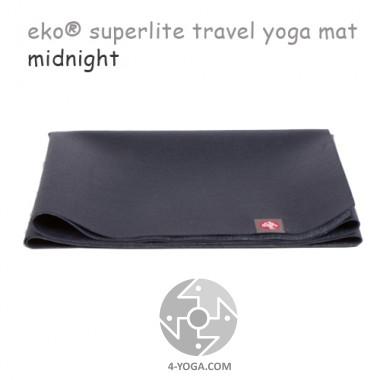 Легкий йога мат eKO SuperLite, Midnight, 61см*173см*1.5мм, Мандука