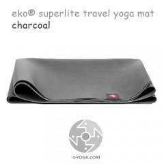 Легкий йога мат eKO SuperLite, Charcoal, Мандука