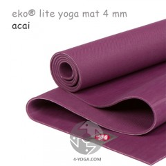 Легкий йога мат eKO lite, Acai, 61см*173см*4мм, Мандука